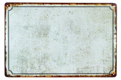 Adesivo Un vecchio segno di metallo arrugginito vuoto con una copia spazio sfondo per il tuo testo