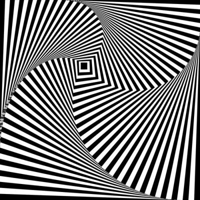 Adesivo Una illusione ottica in bianco e nero