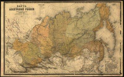 Adesivo Unione Sovietica, URSS, mappa