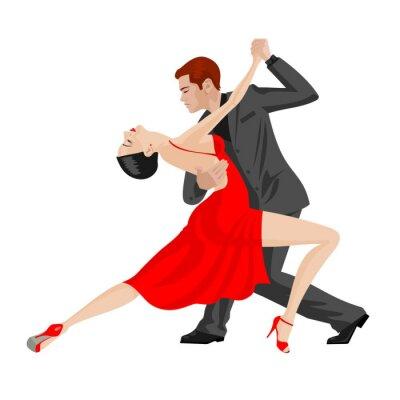 Adesivo uomo e donna che balla
