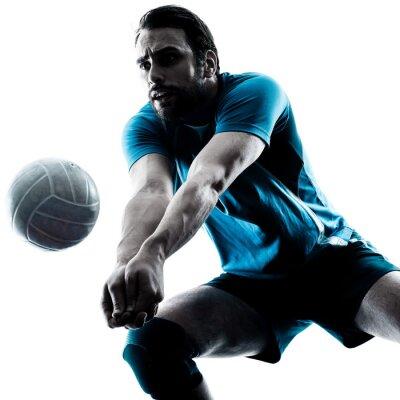 Adesivo uomo pallavolo silhouette