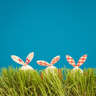 Adesivo Uova di Pasqua su erba verde