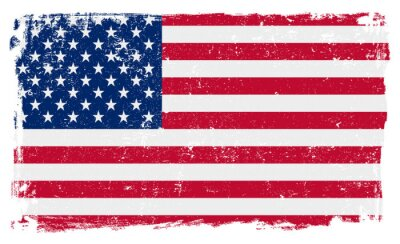 Adesivo USA Flag in formato vettoriale