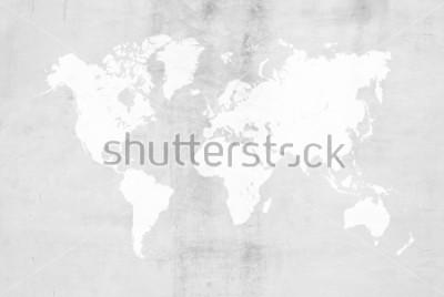 Adesivo Uso concreto del fondo della superficie della struttura della parete o del pavimento del pavimento di lucidatura del cemento dell'intonaco di cemento per fondo con la mappa del mondo