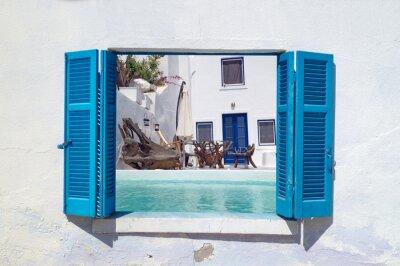 Adesivo Vacanze romantiche isola di Santorini, in Grecia