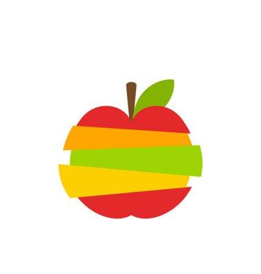 Adesivo Vari tipi di frutta Fette Stacked