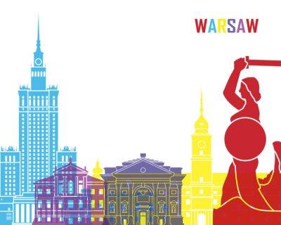 Adesivo Varsavia skyline di schiocco