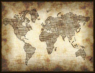 Adesivo vecchia mappa
