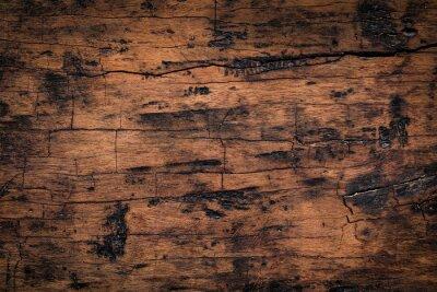 Adesivo Vecchia priorità bassa di legno di struttura della plancia. Struttura naturale esposta all'aria delle tavole di legno.