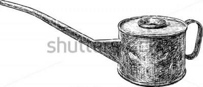 Adesivo vecchio bollitore di rame
