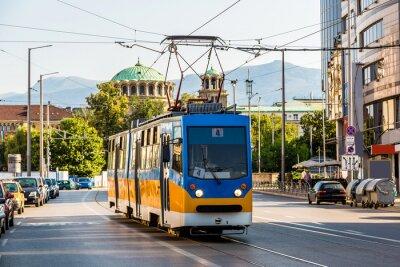 Adesivo Vecchio tram a Sofia, Bulgaria
