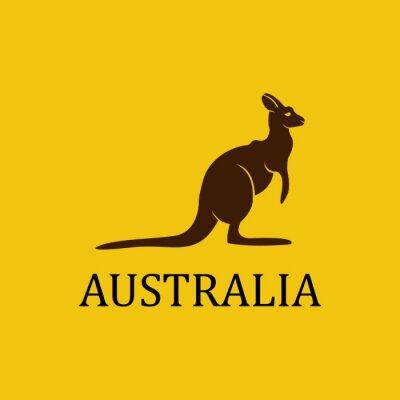 Adesivo Vector australia kangaroo