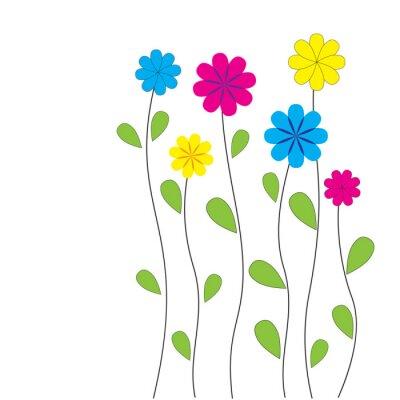 Adesivo Vector floral background con il cuore