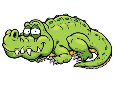 Adesivo Vector illustration of Cartoon crocodile