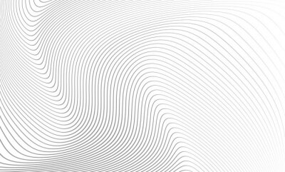Adesivo Vector illustration of the pattern of the gray lines abstract background. EPS10.