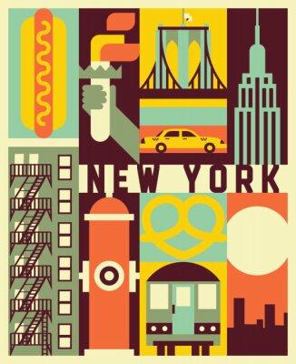 Adesivo Vector New York background