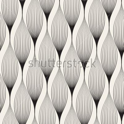 Adesivo Vector seamless. Astratto sfondo elegante con petali stilizzati