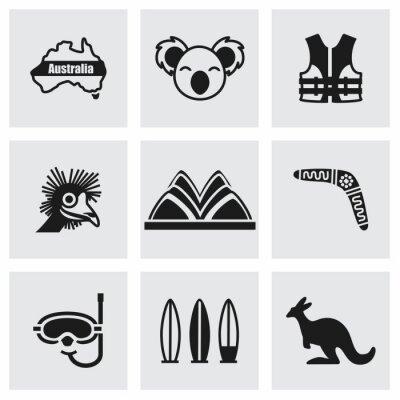 Adesivo Vector set di icone in Australia