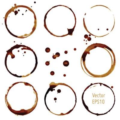 Adesivo Vector tazza di caffè macchie