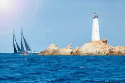 Adesivo vela in Sardegna, Monaci isola faro, Italia