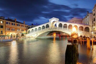Adesivo Venezia, Ponte di Rialto. Italia.