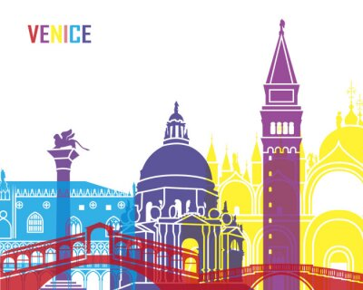 Adesivo Venice skyline pop
