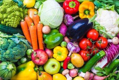 Adesivo Verdure e frutta di fondo.