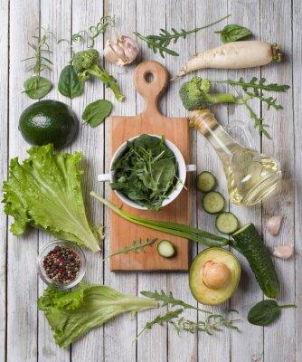 Adesivo verdure verdi