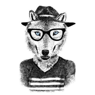 Adesivo Vestita di lupo