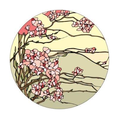 Adesivo Vetrata con sakura