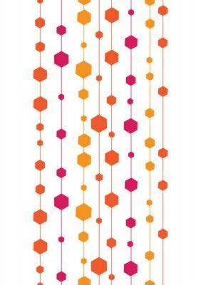 Adesivo vettore astratti strisce colorate e forme senza soluzione di continuità verticale