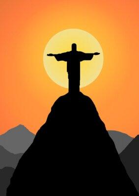 Adesivo Vettore: Cristo vettore Redentore