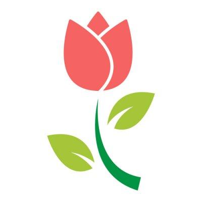 Adesivo vettore dell'icona del fiore del tulipano