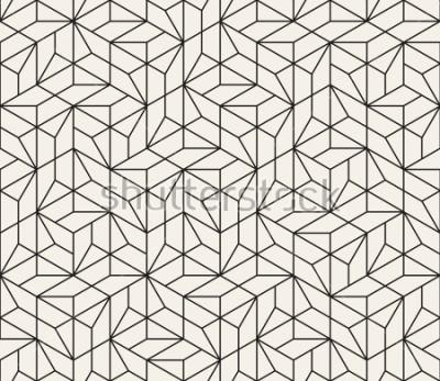 Adesivo Vettore senza soluzione di continuità. Moderna struttura astratta elegante. Ripetendo le piastrelle geometriche da elementi a strisce