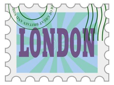 Adesivo vettore, timbro postale di Londra