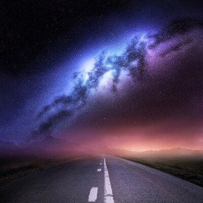 Adesivo Via Lattea Dalla Terra