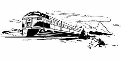 Adesivo Viaggiare in treno