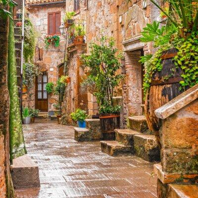 Adesivo Vicolo nel centro storico di Pitigliano Toscana Italia