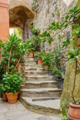 Adesivo Vicolo nella vecchia città italiana Liguria Italia
