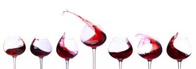 Adesivo Vino rosso isolato su bianco