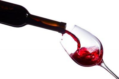 Adesivo Vino rosso su sfondo bianco