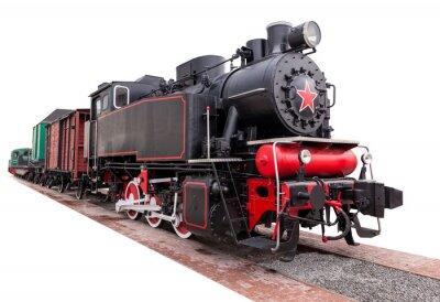 Adesivo vintage,big, steam train