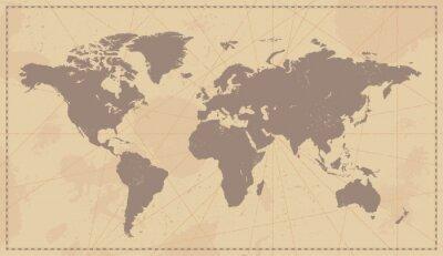 Adesivo Vintage Old World Map