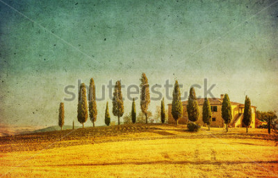 Adesivo vintage tuscan landscape