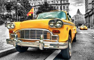 Adesivo Vintage Yellow Cab in Lower Manhattan - New York City
