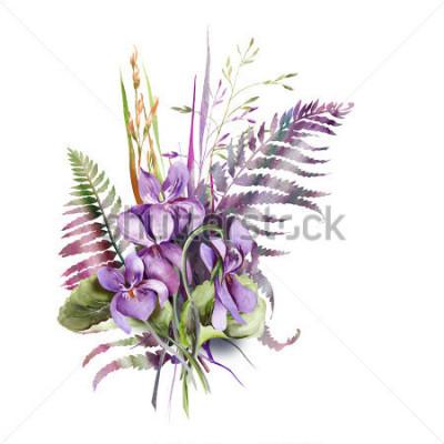 Adesivo Violas Bouquet