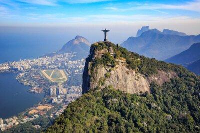 Adesivo Vista aerea del Cristo Redentore e la città di Rio de Janeiro