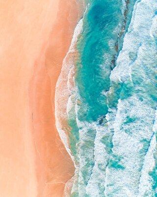 Adesivo Vista aerea della bellissima spiaggia australiana lungo la Great Ocean Road, Victoria, in estate