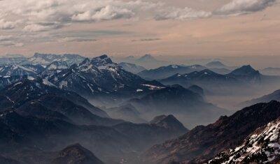 Adesivo Vista da Hoellengebirge direzione Salisburgo, Austria