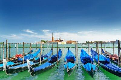 Adesivo Vista del gondole sulla laguna di Venezia, Venezia, Italia